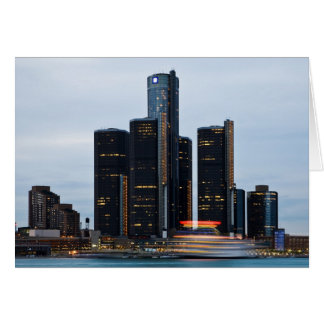 Renaissance Center At Dusk Card