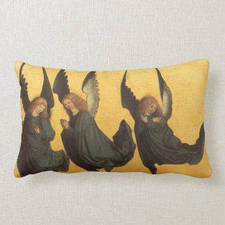 Renaissance Christmas Angels, Master of Housebook Lumbar Pillow