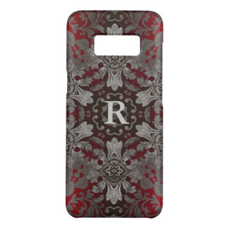 renaissance gothic metallic red and black mandala Case-Mate samsung galaxy s8 case