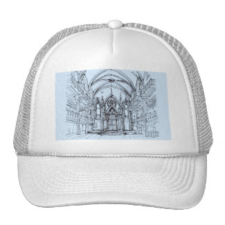 Renaissance gothic Orensanz drawing in blue Mesh Hat