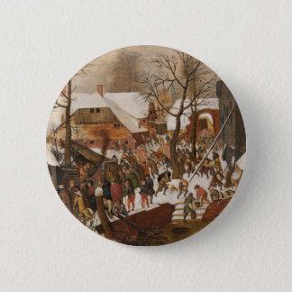 Renaissance Holy Nativity 2 Inch Round Button