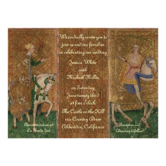 Renaissance Lady and Knight Wedding Custom Invitation