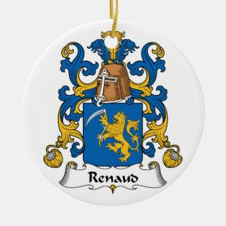 Renaud Family Crest Ceramic Ornament