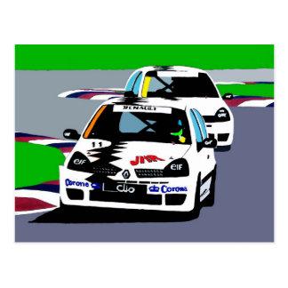 Renault Clio Racing Cars Postcard