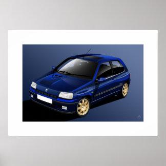 Renault Clio Williams Poster