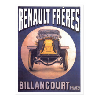 Renault Freres French Automobile Advertisement Postcard