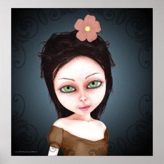 Render 107b Gothic Girl Art Poster