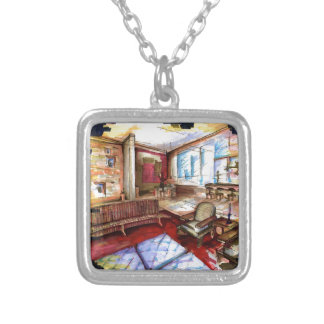 """""""Rendering"""" by Thompson Kellett Silver Plated Necklace"""