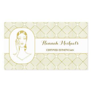 Rendez-vous certifié de femme d'or blanc carte de visite standard