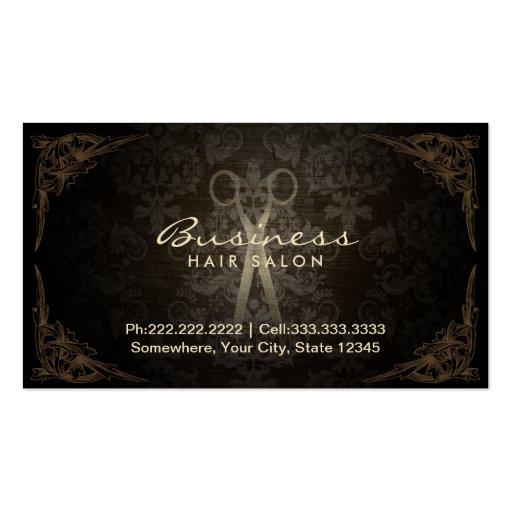 Rendez-vous de salon de coiffure de damassé cartes de visite personnelles