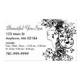 Rendez-vous fait sur commande de salon ou de spa cartes de visite professionnelles
