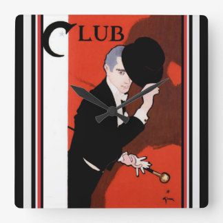 Rene Gruau Club Wall Clock
