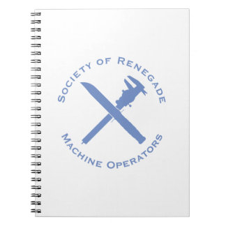 Renegade Machine Operator with Calipers and Knife Notebooks