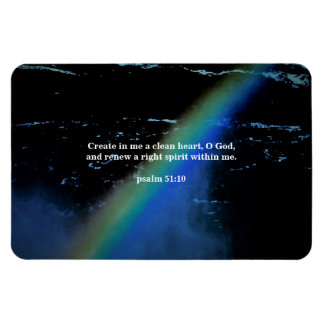 RENEW A RIGHT SPIRIT WITHIN ME RECTANGULAR PHOTO MAGNET
