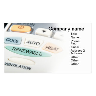 Renewable button business card template