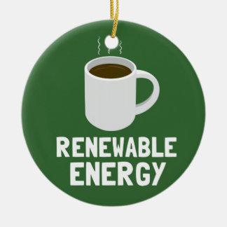 Renewable Energy Coffee Cup Ceramic Ornament