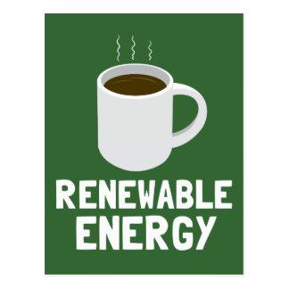 Renewable Energy Coffee Cup Postcard