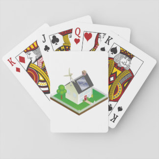 Renewable Energy House Playing Cards