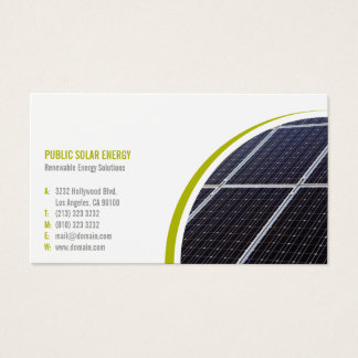 Renewable Energy Solutions Solar Business Card