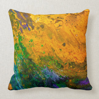 """Renewal"" Custom Abstract Throw Pillow"
