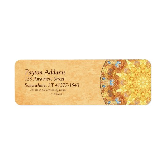 Renewal Mandala Return Address Avery Label