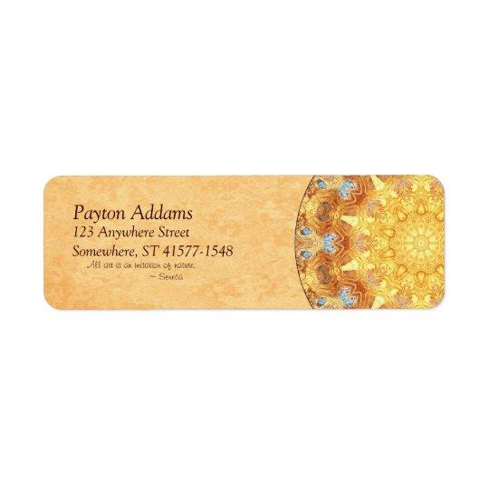Renewal Mandala Return Address Avery Label Return Address Label