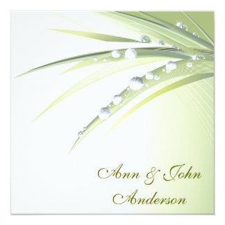 "Renewal Of Wedding Vows 5.25"" Square Invitation Card"