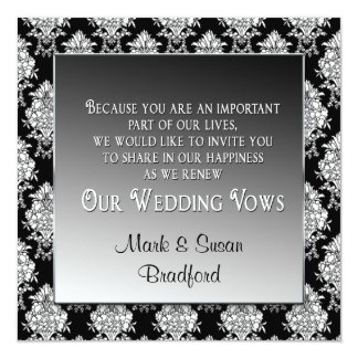 RENEWAL OF WEDDING VOWS INVITATION - BLACK/WHITE