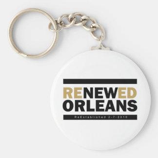 Renewed Orleans Basic Round Button Keychain