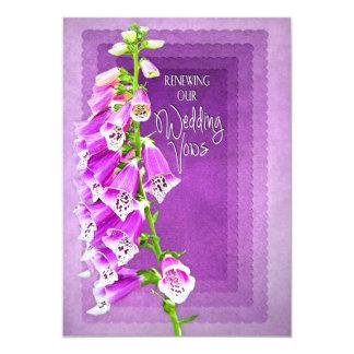 RENEWING WEDDING VOWS INVITATION - PURPLE FLOWERS