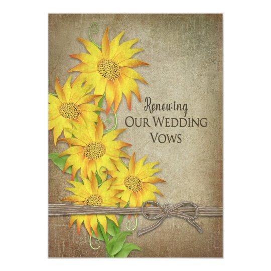 Renewing Wedding Vows Invitation - Sunflowers