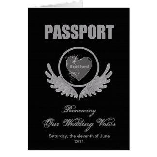RENEWING WEDDING VOWS - PASSPORT INVITATION