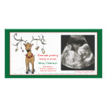 Renne d'annonce de grossesse de carte de Noël Modèle Pour Photocarte