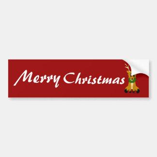Renne délabré mignon de Noël Autocollant De Voiture