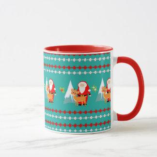 Renne mignon de Père Noël de vacances de Noël