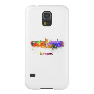 Rennes skyline in watercolor cases for galaxy s5