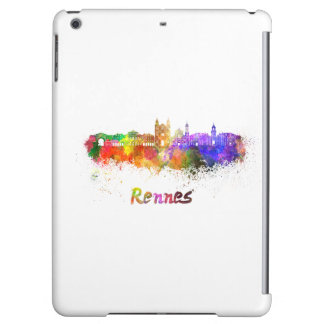 Rennes skyline in watercolor iPad air cases