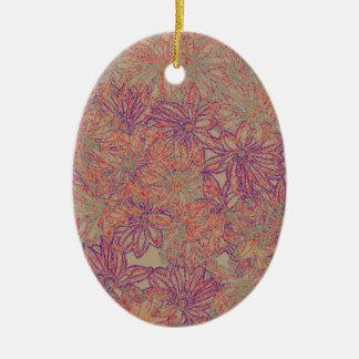 Rennie's Daisy Print Ceramic Ornament