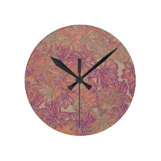 Rennie's Daisy Print Round Clock