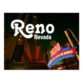 Reno Downtown Postcard - Whitney Peak