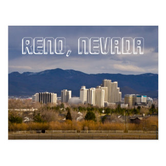 Reno Nevada Downtown Skyline Postcard