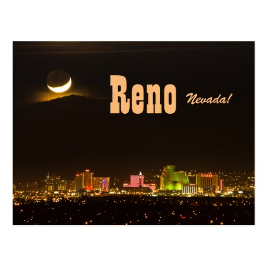 Reno Nevada New Moon Postcard