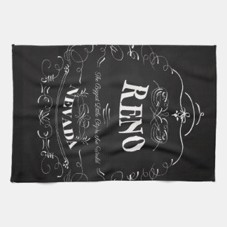 Reno, Nevada - The Biggest Little City Kitchen Towel