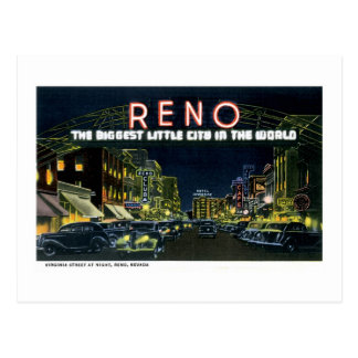Reno, NV The Biggest Little City in the World Postcard