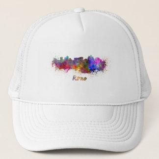 Reno skyline in watercolor trucker hat