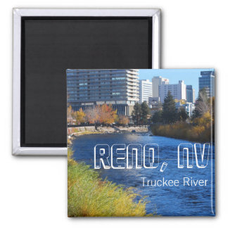 Reno / Truckee River downtown Square Magnet