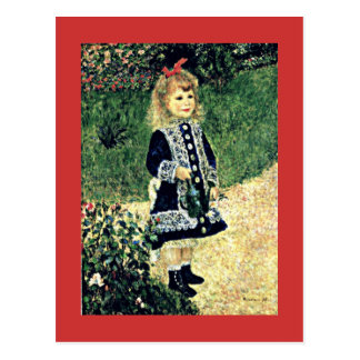 Renoir - A Girl with a Watering Can Postcard