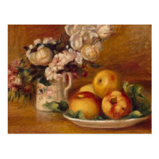 Renoir Apples and Flowers Postcard