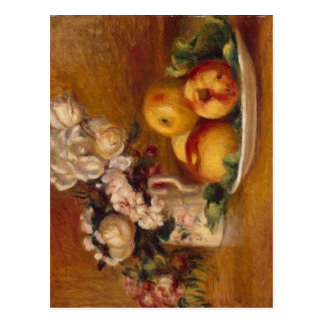 Renoir Apples and Flowers Postcard