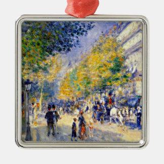 Renoir art: The Great Boulevards painting Metal Ornament